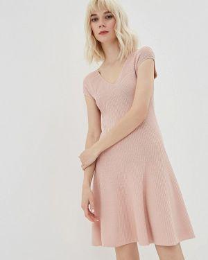 Платье розовое прямое Lorani