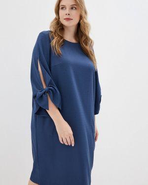Повседневное платье осеннее синее Montebella Style