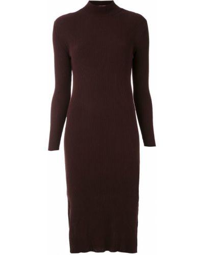 Платье миди в рубчик с разрезами по бокам Mara Mac