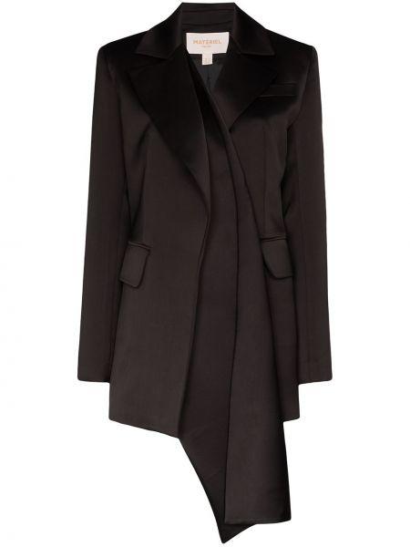 Черный пиджак с карманами на пуговицах Matériel