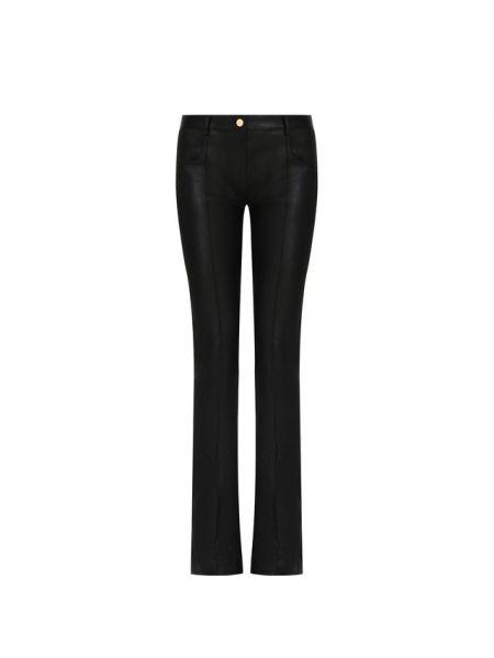 Кожаные черные расклешенные брюки Jitrois