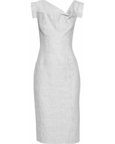 Льняное белое платье с подкладкой Black Halo