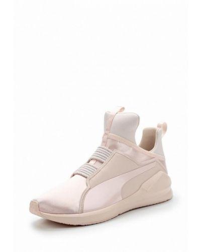 Розовые высокие кроссовки Puma