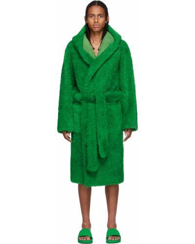 Зеленый халат с капюшоном Bottega Veneta
