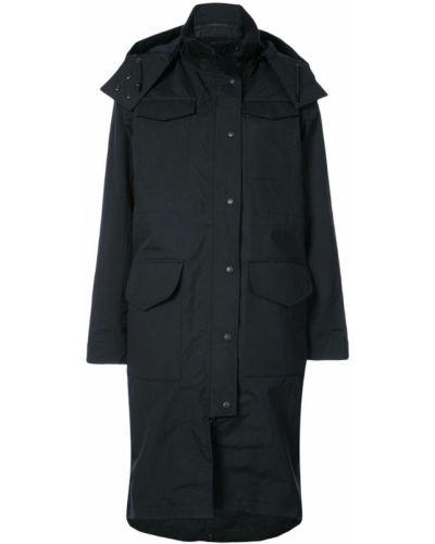 Пальто с капюшоном на пуговицах черное Canada Goose