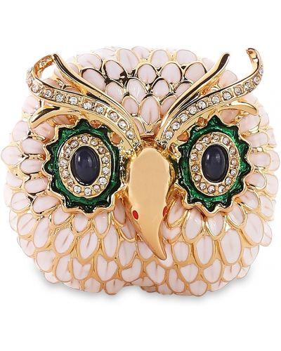 Złota broszka z kryształkami Kenneth Jay Lane