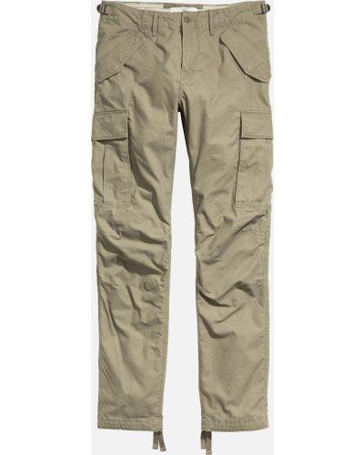 Бежевые брюки с карманами H&m
