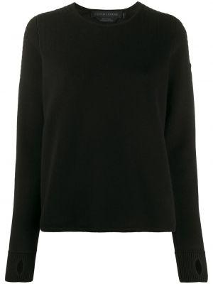 Черный длинный свитер в рубчик Canada Goose