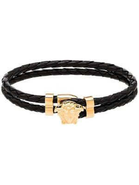 Черный золотой браслет Versace