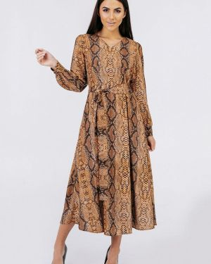 Коричневое вечернее платье Bessa
