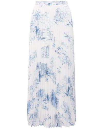 Синяя плиссированная юбка Boss
