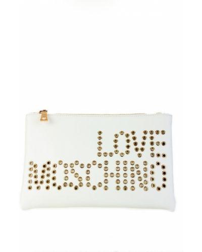 Biała kopertówka Love Moschino