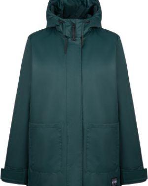 Городская зеленая свободная куртка с капюшоном мембранная Termit