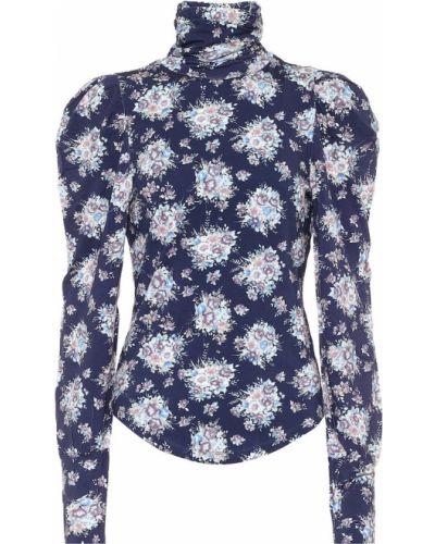 Синяя блузка из вискозы Loveshackfancy