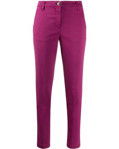 Хлопковые розовые укороченные брюки на пуговицах Jacob Cohen