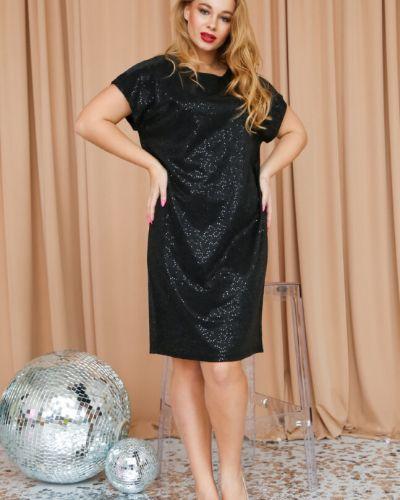Прямое с рукавами вечернее платье новогоднее Ellcora