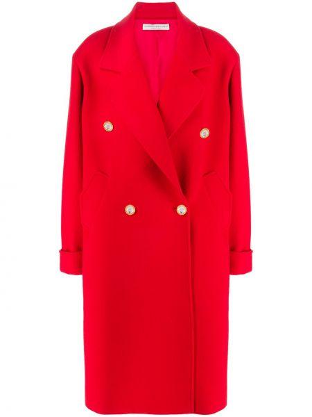 Płaszcz wełniany z długimi rękawami oversize Alessandra Rich