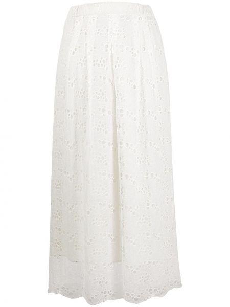 Spódnica maxi rozkloszowana koronkowa bawełniana Roseanna