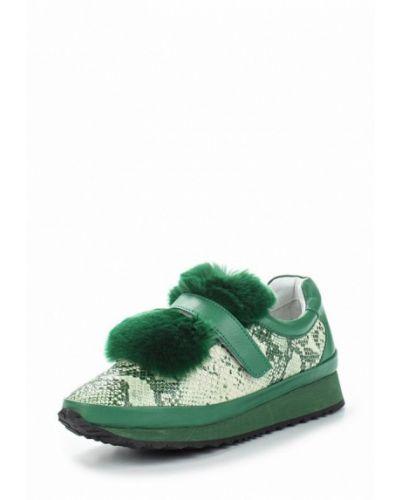 Зеленые кроссовки с мехом Grand Style