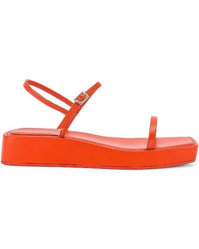 Sandały skórzane na obcasie - pomarańczowe Jeffrey Campbell