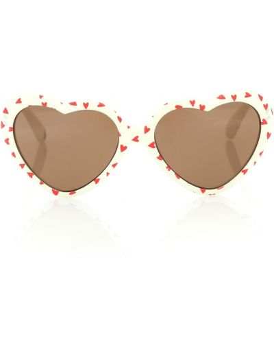 Biały okulary przeciwsłoneczne Stella Mccartney Kids