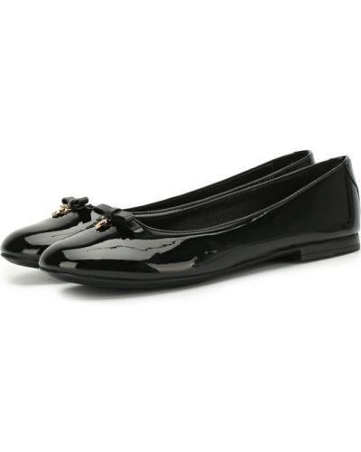 Балетки кожаные черные Dolce & Gabbana