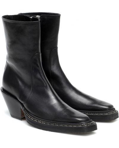 Czarny kowboj buty z prawdziwej skóry zabytkowe Acne Studios