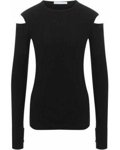Хлопковый пуловер - черный Helmut Lang