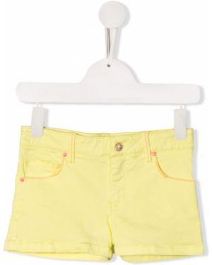 Ватные хлопковые желтые шорты Billieblush