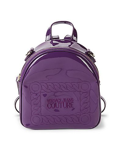 Фиолетовый рюкзак с карманами на бретелях Versace Jeans Couture