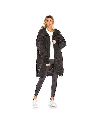 Куртка с капюшоном черная длинная Adidas By Stella Mccartney