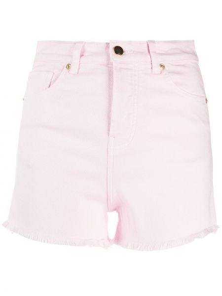Хлопковые розовые шорты с карманами Alexandre Vauthier