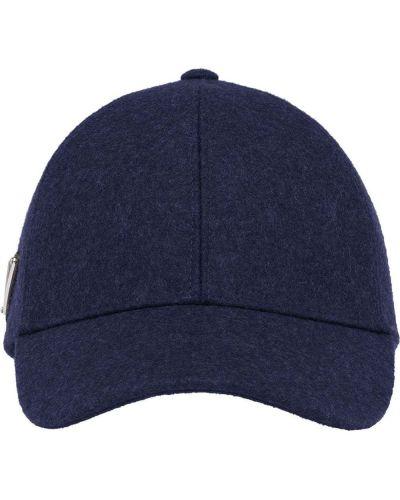 Niebieska czapka wełniana Prada