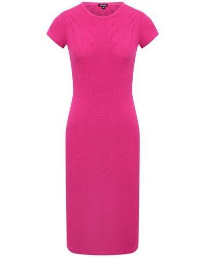 Хлопковое розовое платье Monrow