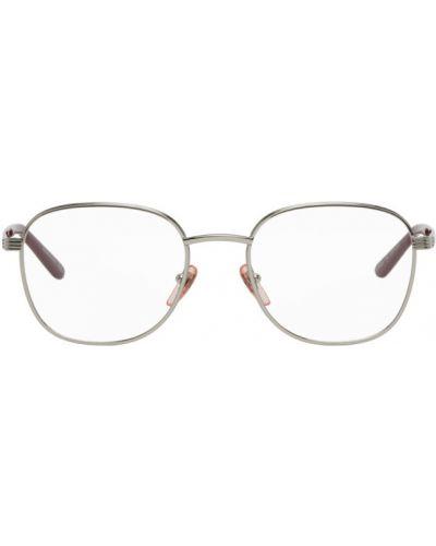 Różowe okulary srebrne Gucci
