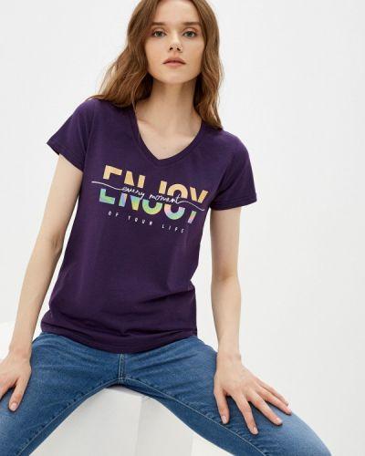Фиолетовая весенняя футболка D.s