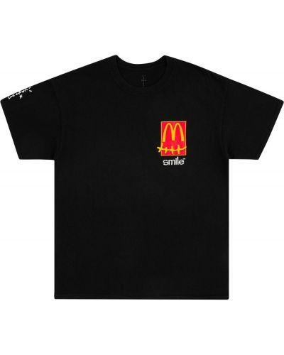 Хлопковая футболка - черная Travis Scott Astroworld