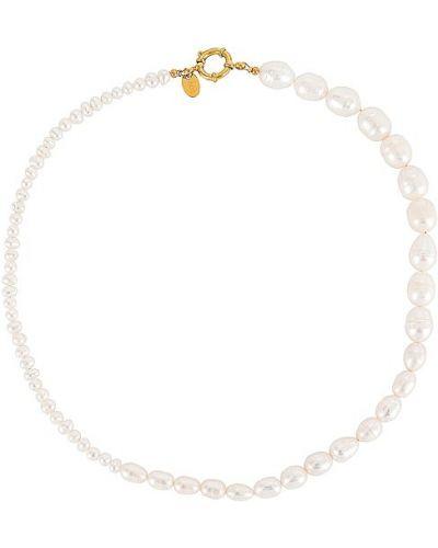 Złoty naszyjnik z pereł - biały Arms Of Eve
