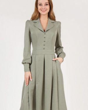 Повседневное платье осеннее зеленый Marichuell