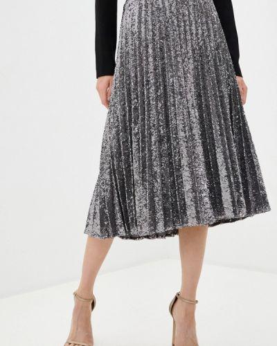 Плиссированная серебряная плиссированная юбка Iblues