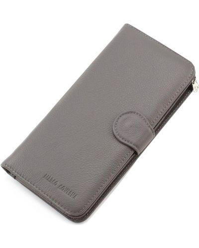 Кожаный кошелек - серый Marco Coverna