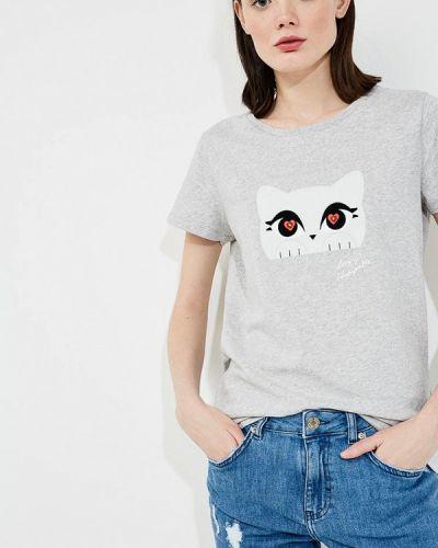 Серая футболка Karl Lagerfeld