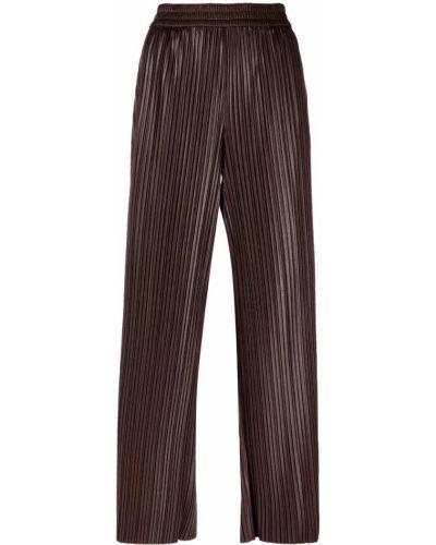 С завышенной талией прямые коричневые брюки Krizia