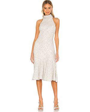 Платье миди с декольте на молнии Saylor