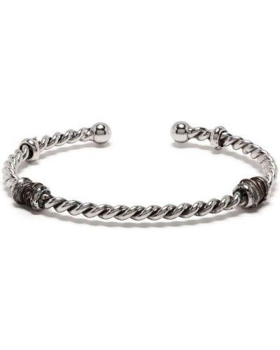 Серебряный браслет металлический без застежки Gas Bijoux