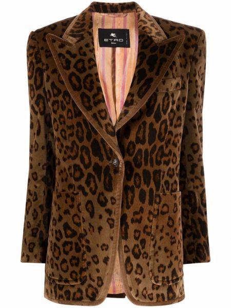 Коричневый хлопковый пиджак Etro