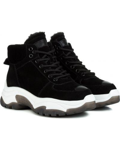 Ботинки с мехом - черные Berkonty
