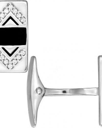 Запонки из серебра серебряный Sokolov