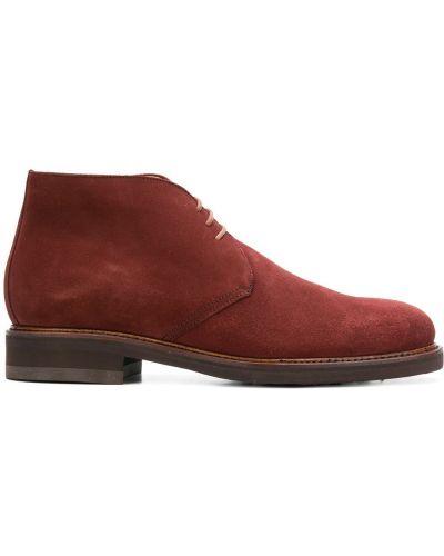 Туфли на шнуровке красные замшевые Berwick Shoes