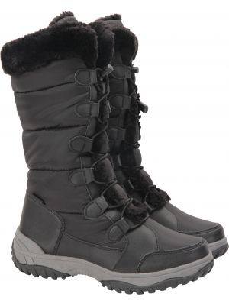 Ciepłe czarne śniegowce Mountain Warehouse